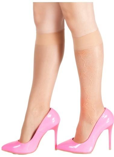 Pierre Cardin 4'Lü Desenli Dizaltı Çorap Ten